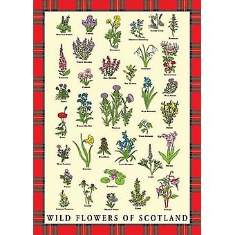 Wild Flowers Of Scotland Tea Towel