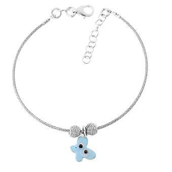 Orphelia Silber 925 Kinder Armreif Blue Butterfly ZA-7143