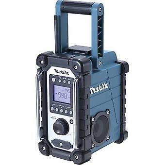 Makita DMR107 arbetsplats radio fm, am AUX stänk grön, svart
