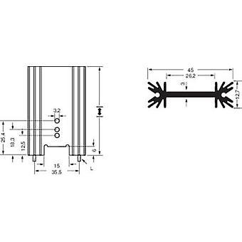 Fischer Elektronik SK 409 38,1 STS Disipador de calor de aleta 7 K/W (L x W x H) 45 x 38,1 x 12,7 mm A 220, A 218, A 3P
