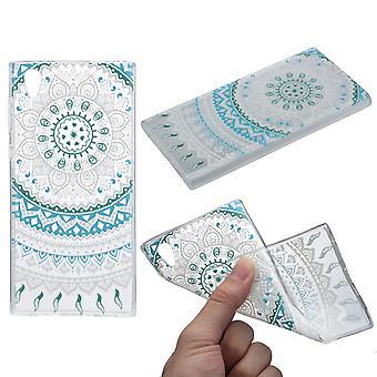 Henna cover for Sony Xperia XA2 case protective cover silicone Sun blue