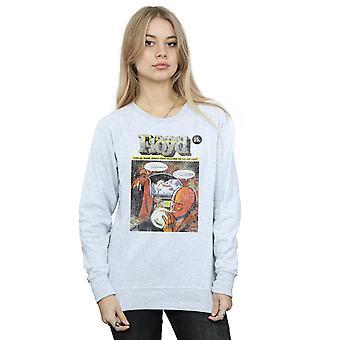 En détresse couverture comique Sweatshirt Pink Floyd de la femme