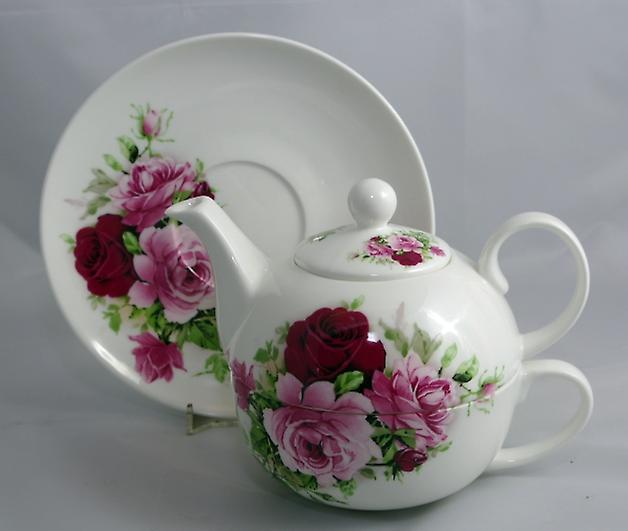 English Bone China Tea for One Summertime