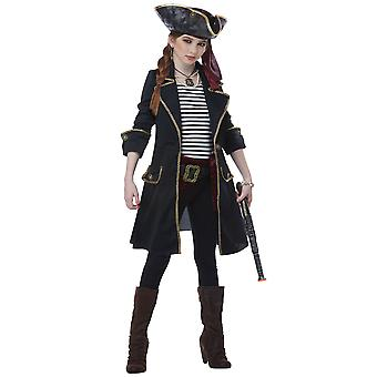 High Seas Captain Pirates of The Carribbean Buccaneer Book Week Girls Costume
