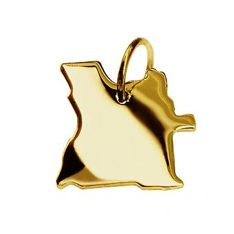 Trailer map pendants in gold yellow-gold in the form of ANGOLA