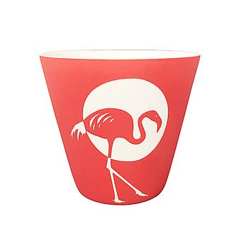 Light Glow Candle Holder, Flamingo 3 White