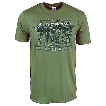 Honcho SFX Mens Rescue Team Not Assassins Predator T Shirt Green