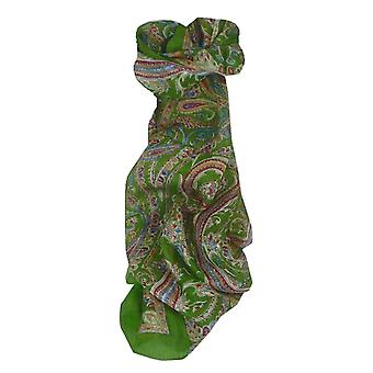 Mulberry Silk Traditional Long Scarf Dana Olive by Pashmina & Silk