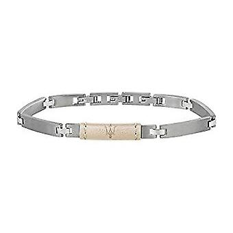 MASERATI - bracelet - mens-steel leather - JM218AMD03