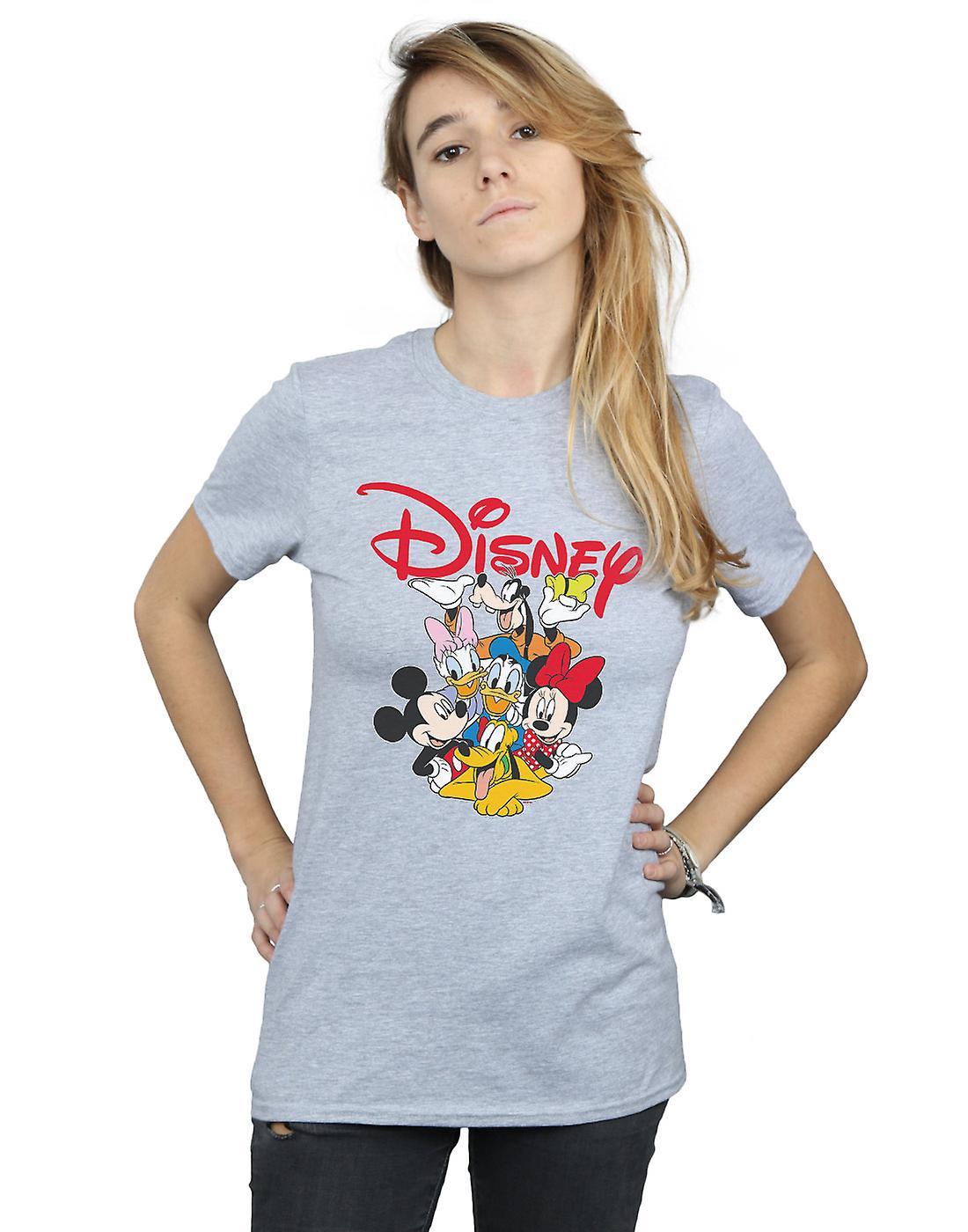 Disney Women's Mickey Mouse Crew Boyfriend Fit T-Shirt