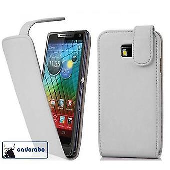Cadorabo Hülle für Motorola RAZR I Case Cover - Handyhülle im Flip Design aus glattem Kunstleder - Case Cover Schutzhülle Etui Tasche Book Klapp Style