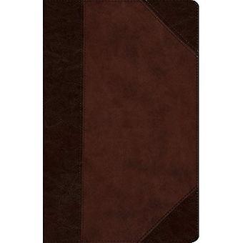 ESV-Wide Marge Reference Bible (Trutone, braun/Walnuss, Portfoliodesign)