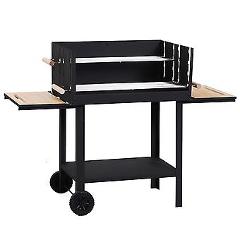 Outsunny Charcoal BBQ Grill Portable Barbecue Outdoor Garden Picnic Party Patio Trolley w/ Wheels