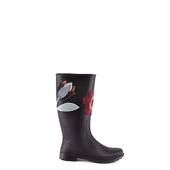 Red Valentino Ezbc026043 Women's Black Fabric Boots