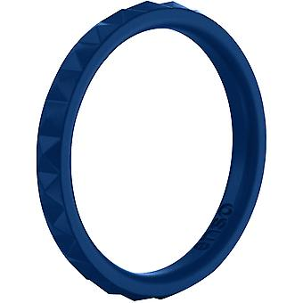 Enso Rings Pyramid Stackables Series Silicone Ring - Midnight Blue