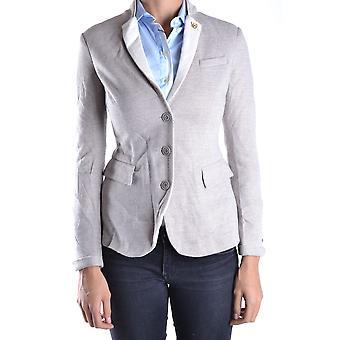 Etiqueta Negra Ezbc183027 Women's Grey Wool Blazer