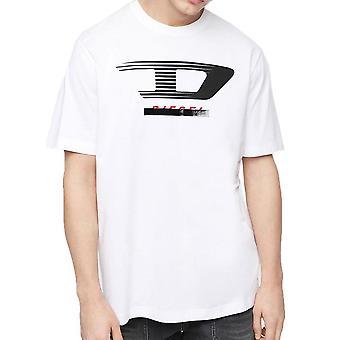 Diesel TJUSTY4 Jersey T-Shirt mit D-Logo