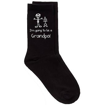I'm Going To Be A Grandpa Black Calf Socks