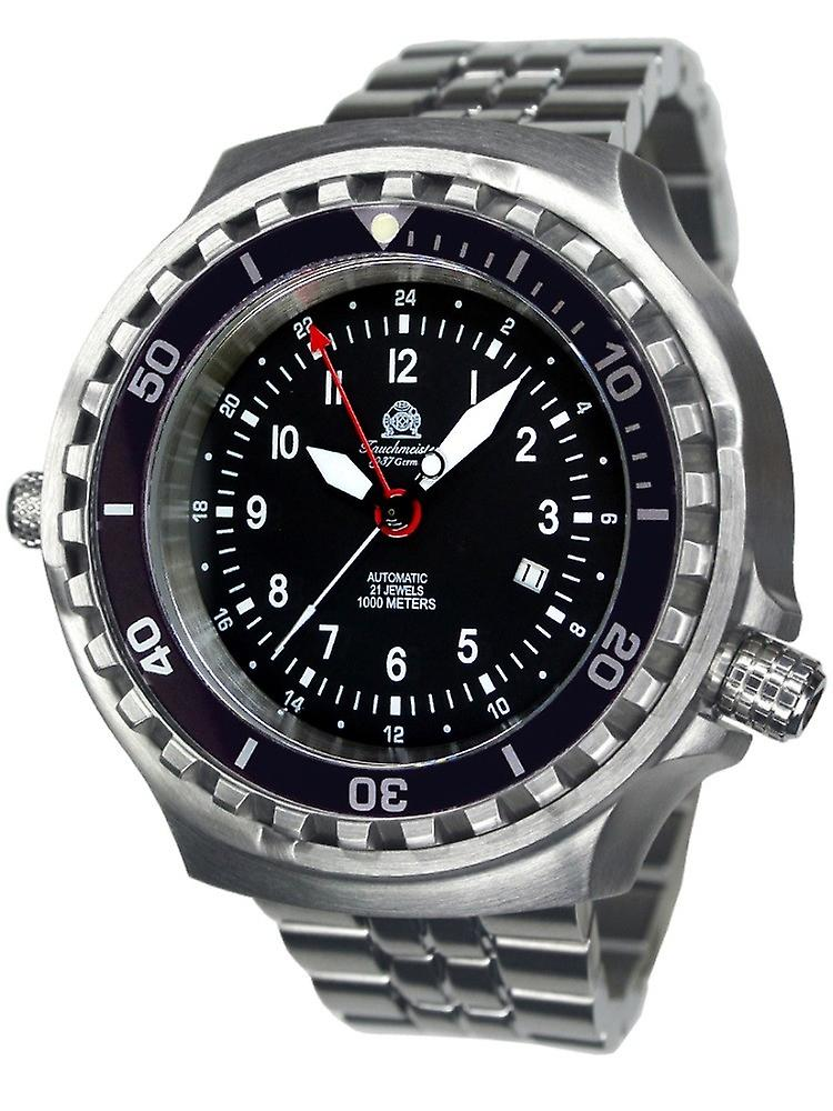 Tauchmeister T0308m automatic Dive watch with steel Band XXL