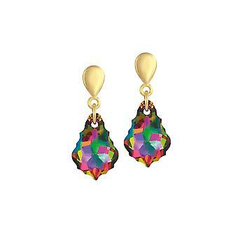 Éternelle Collection Electra Baroque autrichien Crystal Gold Tone Drop boucles d'oreilles