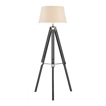 Fusion Living grijs en crème statief vloer lamp