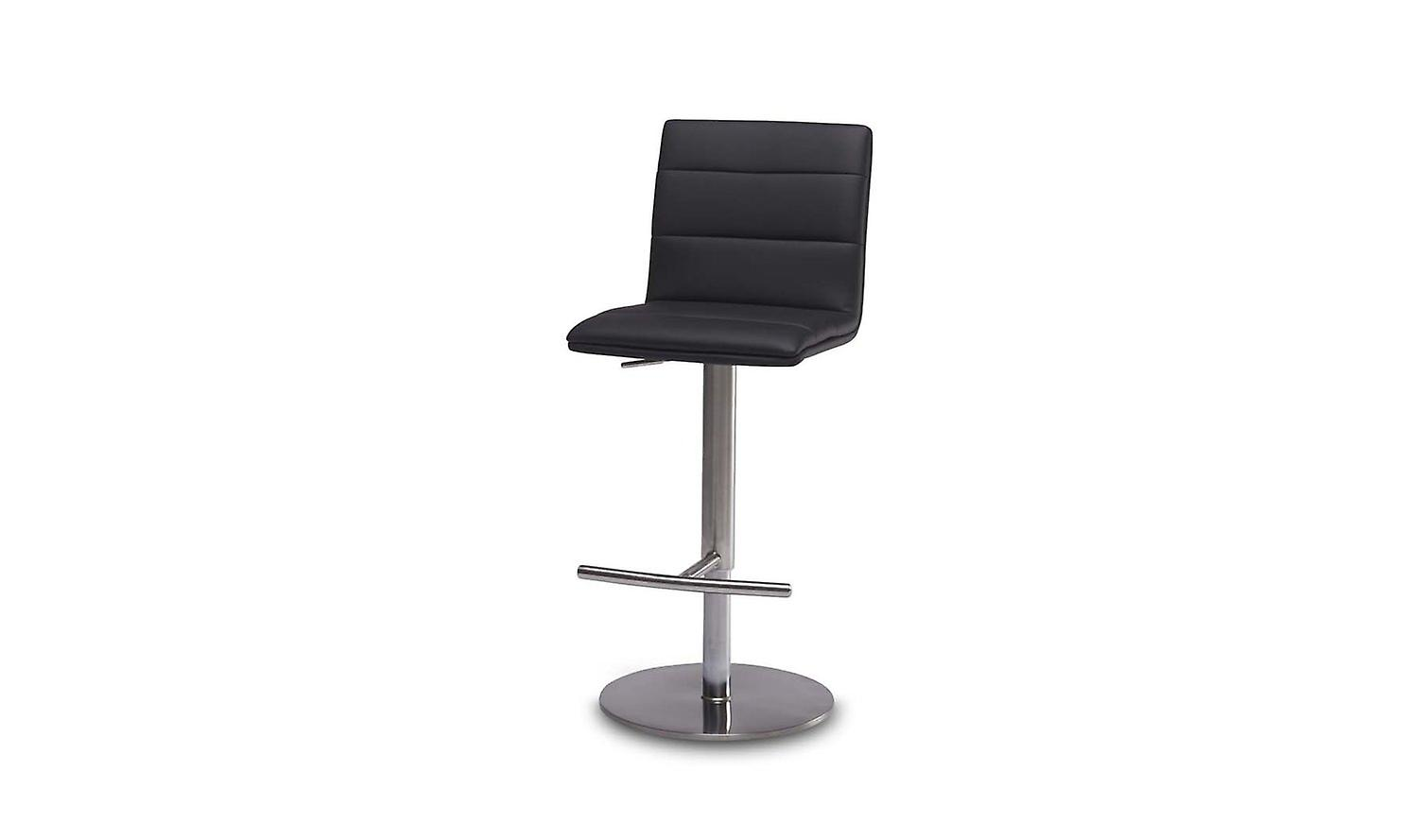Furnhouse Bar Chair Petra, Black PU, Metal Base, 42x57x87-112 cm