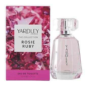 Yardley Rosie Ruby 50ml Eau de Toilette Spray for Women
