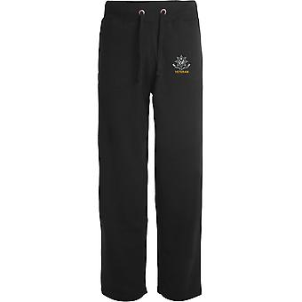 Cheshire Regiment WW1 Veteran - Licensed British Army Embroidered Open Hem Sweatpants / Jogging Bottoms