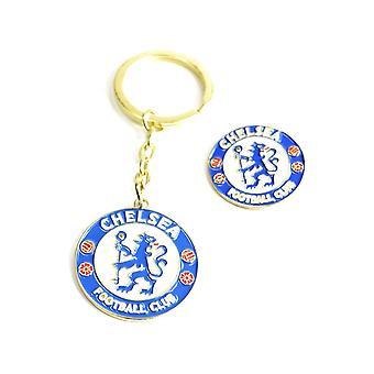 Chelsea Keychain Keychain + Badge