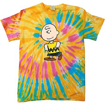 Peanuts Charlie Brown Men's Tie Dye T-Shirt