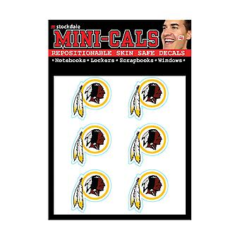 Wincraft 6Er Face Sticker 3cm - NFL Washington Redskins
