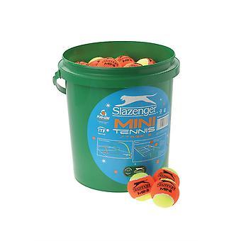 Slazenger Unisex Mini Tennis Orange Balls 5 Dozen Bucket