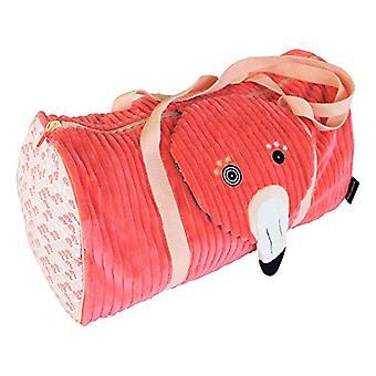 Les Deglingos bag weekend Flamingos The pink flamingo