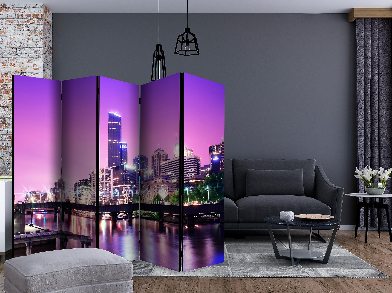 Paravent 5 volets - Purple Melbourne II [Room Dividers]