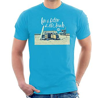 Volkswagen Life Is Better By The Beach Camper Men's T-Shirt