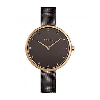 OBAKU - Wristwatch - UNISEX - V233LXVNMN - NOTAT-WALNUT