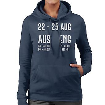 Cricket 22 25 Aug 2019 Test 3 Australia England Result Women's Hooded Sweatshirt