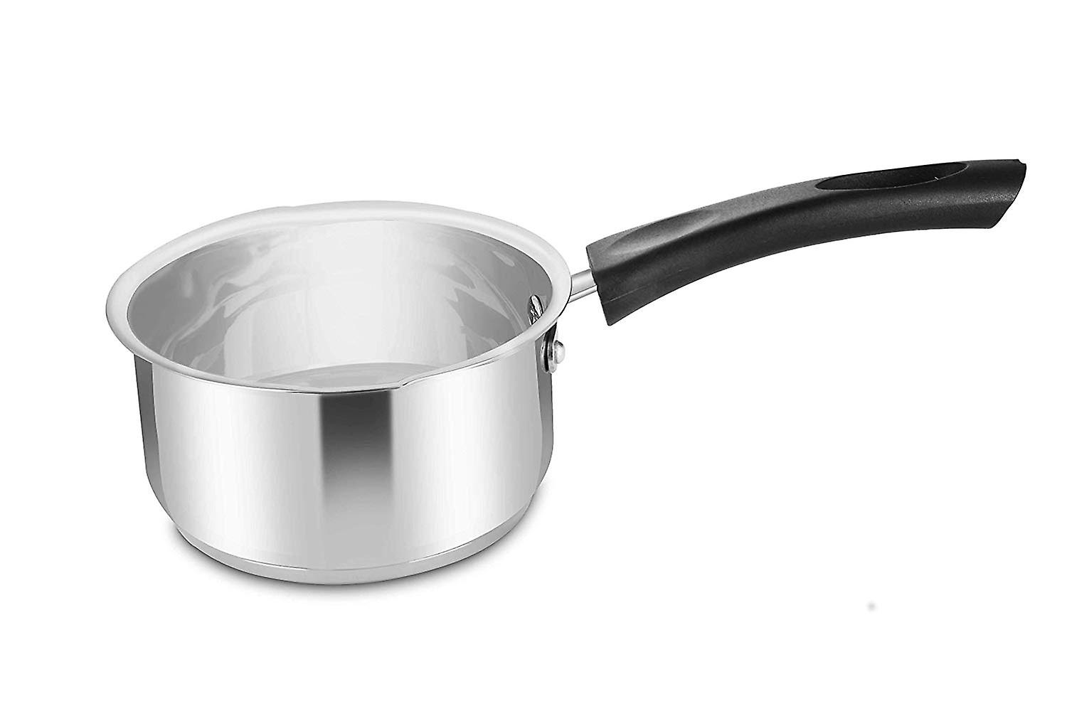 Penguin Home Professional Induction-Safe Milk Pan, Stainless Steel