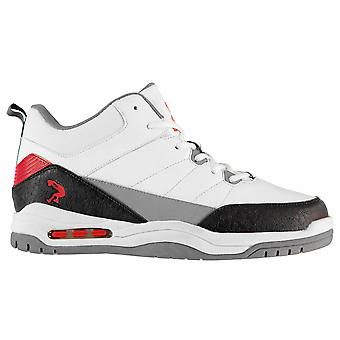Shaq Mens Gents Press Leather Lace-Up Hi Top Trainers Sneakers Sports Shoes