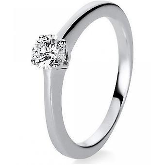 Diamond Ring Ring - 18K 750 White Gold - 0.25 ct.