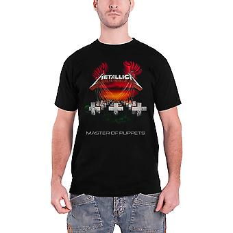 Metallica T Shirt Master of puppets European Tour 1986 Official Mens New Black