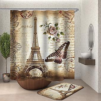 Eine Postkarte von Paris Duschvorhang