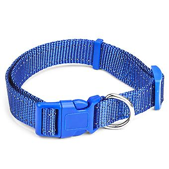 Medium Blue Adjustable Reflective Collar