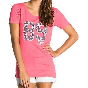 Roxy goed uitziende korte mouw T-shirt in Glow roze