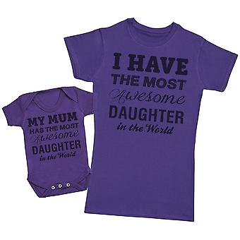 Awesome dochter-moeders T-shirt & Baby Romper