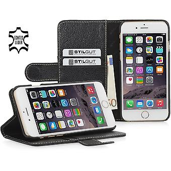 Case For iPhone 6 Plus Wallet Talis Leather True Black