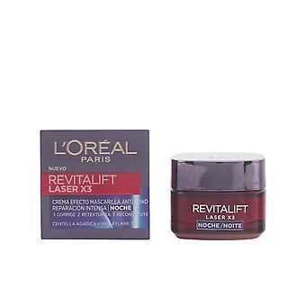 L'Oréal Paris Revitalift Laser X3 Krem na noc 50 Ml dla kobiet