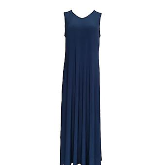 Attitudes by Renee Petite Dress M Como Jersey Pull On Navy Blue A347505