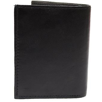 Mens Nappa Leather Handy Tri-Fold Wallet with  Multiple Features