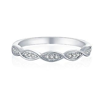 925 Sterling Silver Waves Band Ring
